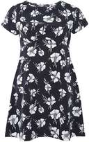 Petite Navy Floral Dress
