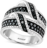 Effy Caviar By White and Black Diamond Ring (1-1/2 ct. t.w.) in 14k White Gold