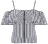 Jane Norman Gingham Ruffle Top