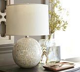 Pottery Barn Jolie Mother-of-Pearl Round Lamp Base