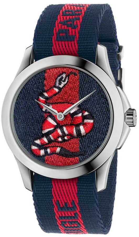 Gucci Watch Le Marché Des Merveilles Watch Case 38mm With Web Snake Pattern