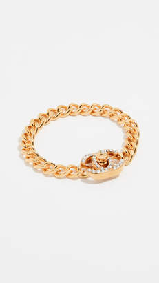 Chanel What Goes Around Comes Around Small Crystal Turn Lock Bracelet