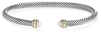 David Yurman Cable Classic Bracelet with Pearl & 18K Yellow Gold