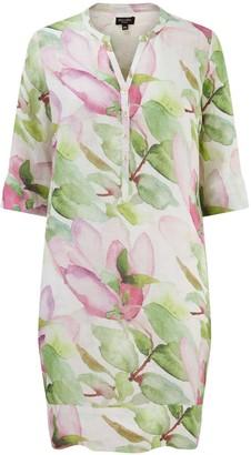 Nologo Chic Melon Flower Linen Tunic Dress