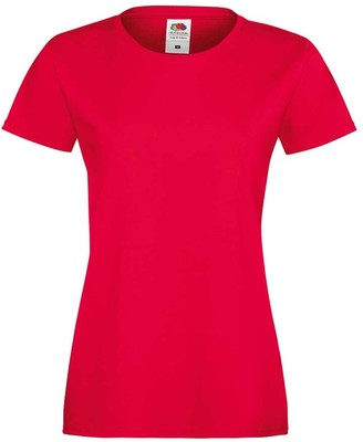 Fruit of the Loom Ladies Lady-fit Sofspun Fashion Fit Cotton T Shirt