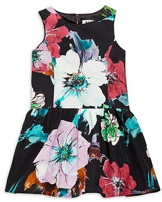 Milly Girl's Floral-Print Party Dress
