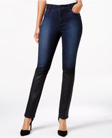 NYDJ Alina Tummy Control Coated Skinny Jeans