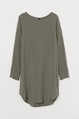 H&M Short Viscose Dress - Green
