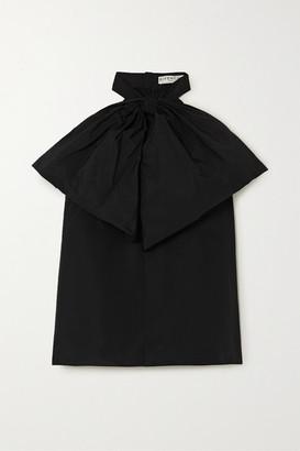Givenchy Bow-embellished Cotton-blend Taffeta Halterneck Blouse - Black