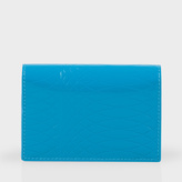 Paul Smith No.9 - Turquoise Patent Leather Credit Card Wallet