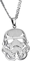 Body Candy Officially Licensed Steel Star Wars Stormtrooper Pendant Necklace