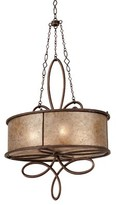 Mica Whitfield 4 - Light Shaded Geometric Chandelier Kalco Finish: Antique Copper, Shade Color: Stained Champagne
