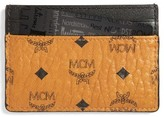MCM Men's Leather Card Case - Brown