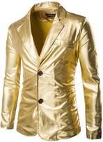 Mada Men's Slim Fit Metallic Color Performance Suit Jackets Asian X-Large