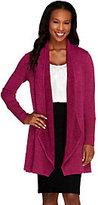 AsIsAttitudes by Renee Petite Combed Knit Drape Front Cardigan