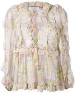 Zimmermann valour ruffle-trimmed floral blouse