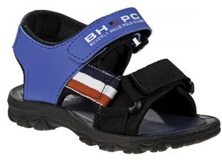 Beverly Hills Polo Club Americana Striped Two Strap Sandals (Toddler Boys)
