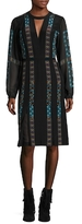 BCBGMAXAZRIA Kaselle Silk Printed Midi Dress