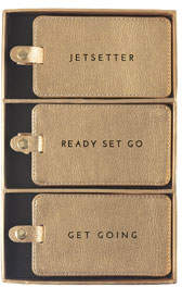 Eccolo Shimmer Vegan Leather Luggage Tags, Boxed Set of 3
