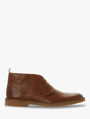 Bertie Castle Leather Desert Boots, Tan