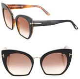 Tom Ford Samantha 55MM Cropped Cat Eye Sunglasses