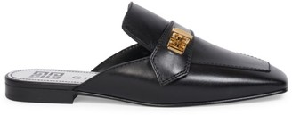Givenchy Eden Square-Toe Leather Loafer Mules