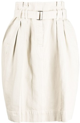 Lemaire High-Rise Belted Skirt