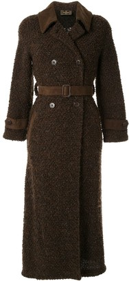 Fendi Pre Owned double-breasted teddy coat