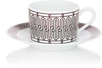 Hermes H Déco Teacup & Saucer - Red
