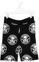 Philipp Plein skull print shorts - kids - Cotton - 14 yrs