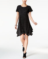 Style&Co. Style & Co Layered Handkerchief-Hem Dress, Created for Macy's