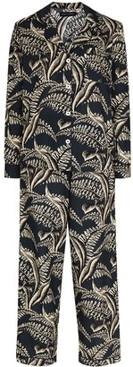 Desmond & Dempsey Fern-Print Pyjama Set