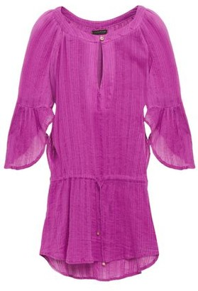 Vix Paula Hermanny Fluted Cotton-gauze Coverup