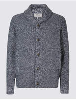 M&S Collection Shawl Neck Textured Cardigan