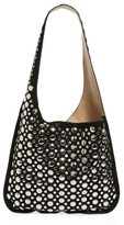 Elizabeth and James Suede Courier Hobo - Black