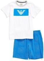 Armani Junior Boy's Logo T-Shirt & Shorts Set
