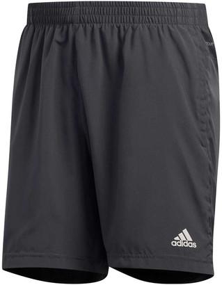 adidas Mens Run It 3-Stripes Shorts Grey M