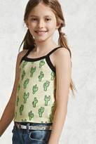 Forever 21 FOREVER 21+ Girls Cactus Print Cami (Kids)