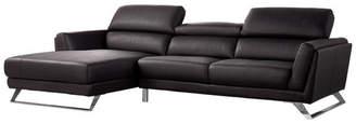Vig Furniture Divani Casa Doss Modern Eco-Leather Sectional Sofa, Black