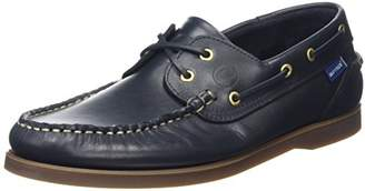 Quayside Unisex Adults' Clipper Boat Shoes, Blue (Navy 001), 41 EU