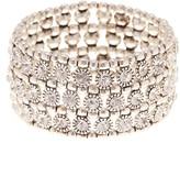 Natasha Accessories Triple Row Crystal Bracelet