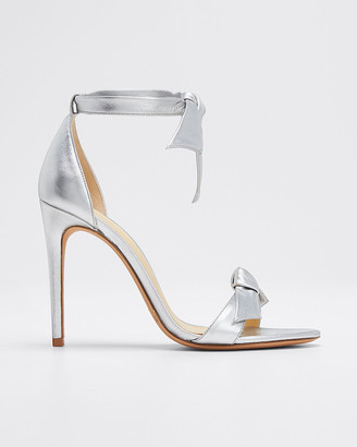 Alexandre Birman Clarita Tie Metallic Leather Sandals