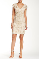 Sue Wong V-Neck Embroidered Dress