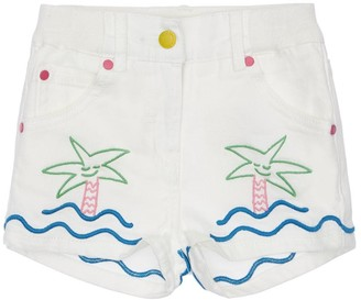 Stella McCartney Kids Embroidered Denim Shorts