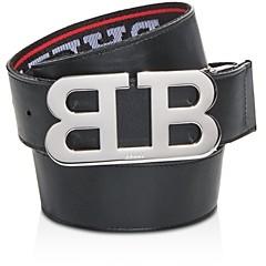Bally Men's Mirror Logo Reversible Belt