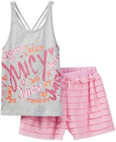 Juicy Couture Printed Tank & Ruffle Short Set (Big Girls)