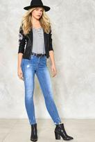 Nasty Gal nastygal Lisa Distressed Skinny Jeans