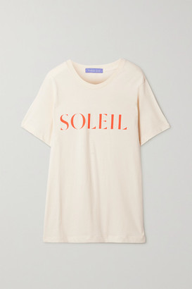 PARADISED Printed Cotton-jersey T-shirt - Cream