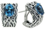 Effy Jewelry Effy 925 Lagoon Sterling Silver Blue Topaz Earrings, 4.50 TCW