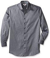 Cutter & Buck Men's Big-Tall Epic Easy Care Mini Herringbone Shirt